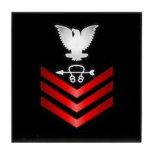 Navy Sonar Technician First Class Tile Coaster