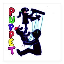 """puppets Square Car Magnet 3"""" x 3"""""""