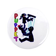 """puppets 3.5"""" Button (100 pack)"""