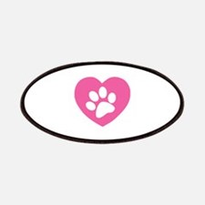 Heart Paw Print Patches