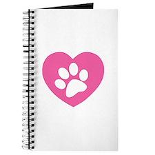 Heart Paw Print Journal
