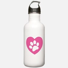 Heart Paw Print Water Bottle