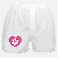 Heart Paw Print Boxer Shorts