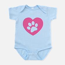 Heart Paw Print Infant Bodysuit