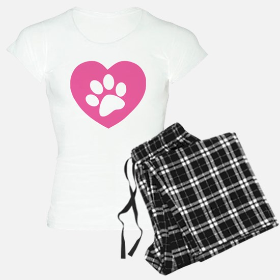 Heart Paw Print pajamas