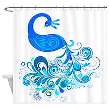 Decorative Peacock ~ Blue Shower Curtain