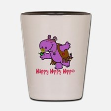 Happy Hippy Hippo Shot Glass