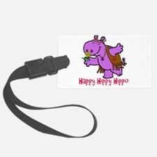 Happy Hippy Hippo Luggage Tag