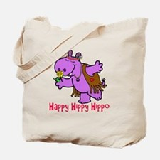 Happy Hippy Hippo Tote Bag