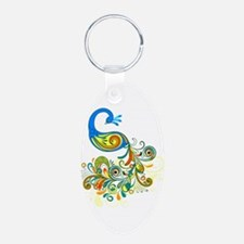 Bright Peacock Keychains