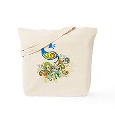 Bright Peacock Tote Bag