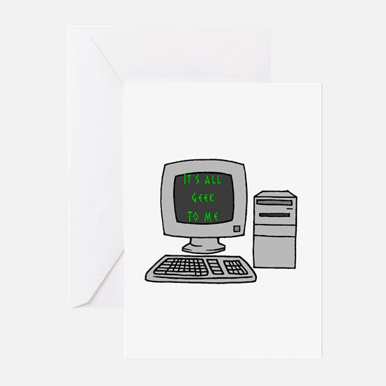 It's All Geek to Me Computer Greeting Cards (Packa