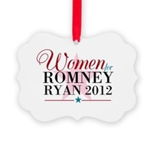 Women for Romney Ryan 2012, Pink/Blue Ornament