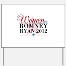 Women for Romney Ryan 2012, Pink/Blue Yard Sign