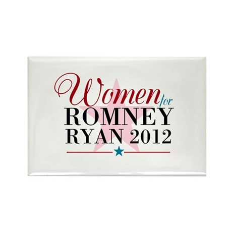 Women for Romney Ryan 2012, Pink/Blue Rectangle Ma
