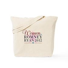 Women for Romney Ryan 2012, Pink/Blue Tote Bag