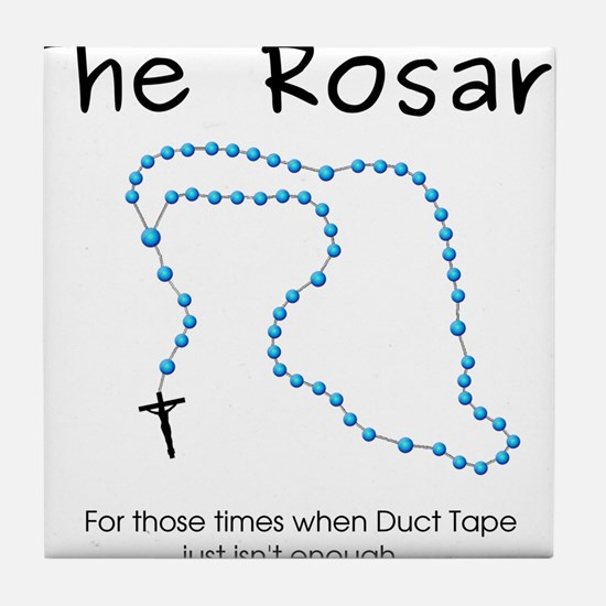 The Power of the Rosary Tile Coaster