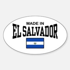 Made In El Salvador Sticker (Oval)