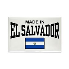 Made In El Salvador Rectangle Magnet