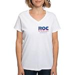 ROC Logo Women's V-Neck T-Shirt