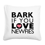 BARK.png Square Canvas Pillow