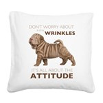 attitude.png Square Canvas Pillow
