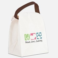 Peace, Love, Zuchons Canvas Lunch Bag