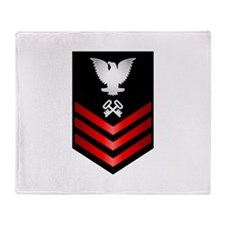 Navy Storekeeper First Class Throw Blanket