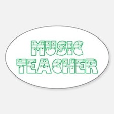 Music Teacer II Oval Decal