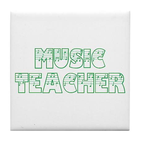 Music Teacer II Tile Coaster