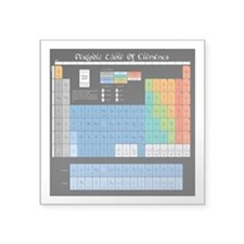 """Periodic Table Of Elements Square Sticker 3"""" x 3"""""""