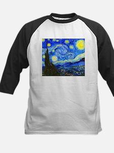 Van Gogh - Starry Night Kids Baseball Jersey