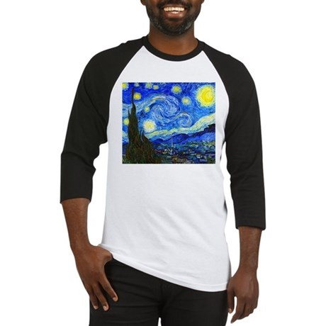 Van Gogh - Starry Night Baseball Jersey