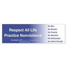 Respect all life Bumper Bumper Sticker