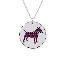 large bull terrier Necklace Circle Charm