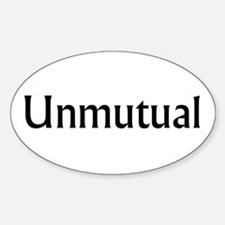 Unmutual Oval Decal