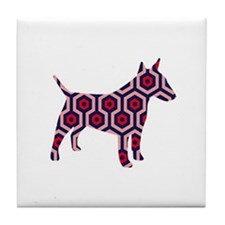 large bull terrier Tile Coaster