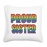 PROUD-SISTER_TR.png Square Canvas Pillow
