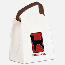 5-redsilhouette.png Canvas Lunch Bag