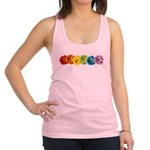 pop-daisy-rainbow.png Racerback Tank Top