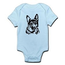 GERMAN SHEPHERD HEAD Infant Bodysuit