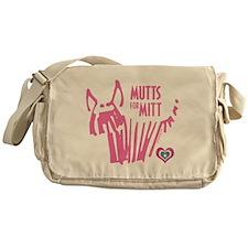 Mutts for Mitt Pink by VampireDog Messenger Bag