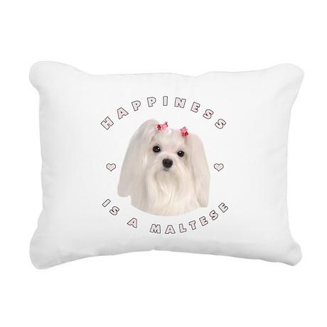 2-happiness.png Rectangular Canvas Pillow