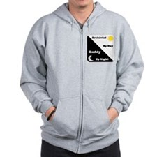 Archivist by day Daddy by night Zip Hoodie