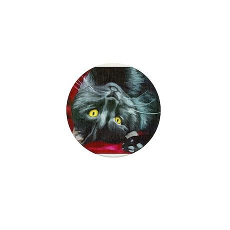 black cat Mini Button (100 pack)