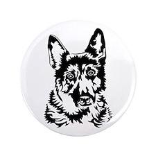 "GERMAN SHEPHERD HEAD 3.5"" Button (100 pack)"
