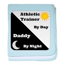 Athletic Trainer by day Daddy by night baby blanke