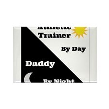 Athletic Trainer by day Daddy by night Rectangle M