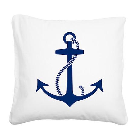 Anchor Square Canvas Pillow