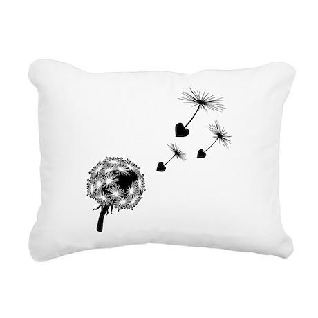dandelion-love_bl2.png Rectangular Canvas Pillow